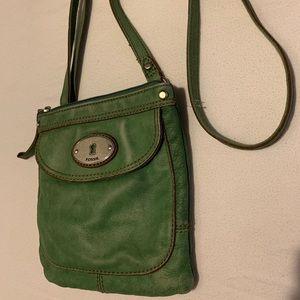fossil green crossbody bag